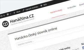 Spouštíme web hanactina.cz